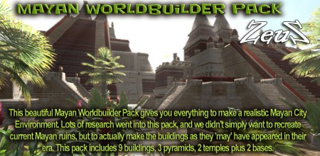 iClone Props Pack - Mayan Worldbuilder Pack