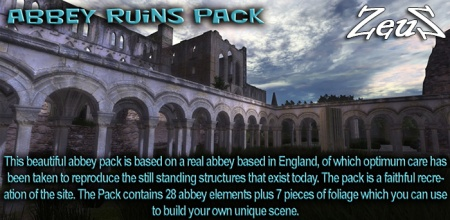 iClone Props Pack - Abbey Ruins Pack