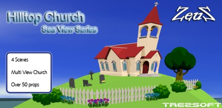 CrazyTalk Animator Scene Pack - Hilltop Church