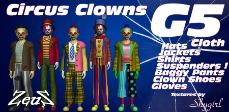 iClone Character Pack - G5 Cloth Circus Clowns