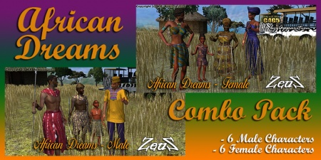 iClone Character Pack - African Dreams Combo