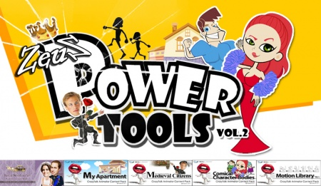 CrazyTalk Animator Combo Pack - Power Tools Vol.2
