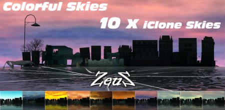 iClone Sky Pack - Colorful Skies Environmental Set