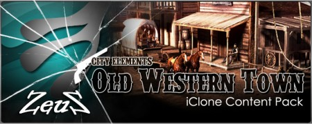 iClone Props Pack - City Elements - Old Western Town