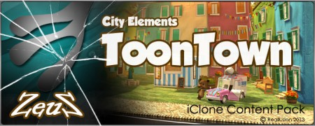 iClone Props Pack - City Elements - Toon Town