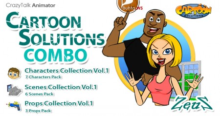 CrazyTalk Animator - Cartoon Solutions Combo Vol.1