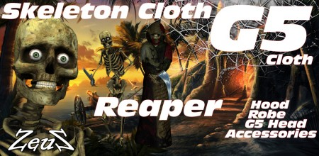iClone Character Pack - G5 Skeleton Cloth Reaper Spectre of the Night