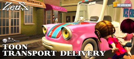 iClone Props Pack - Toon Transport Delivery