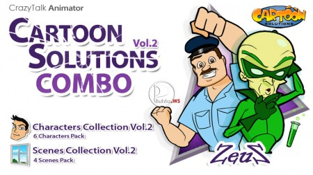 CrazyTalk Animator - Cartoon Solutions Combo Vol.2
