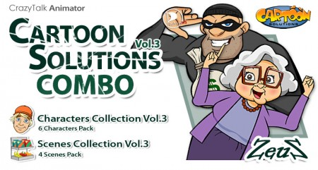CrazyTalk Animator - Cartoon Solutions Combo Vol.3