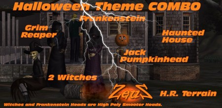 iClone Combo Pack - G5 Halloween Theme COMBO Set
