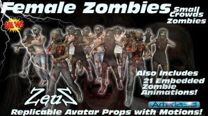 iClone Props Pack - Small Crowds - Zombies COMBO
