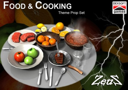 iClone Props Pack - Food and Cooking