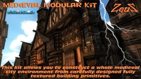 iClone Props Pack - Medieval Modular Kit