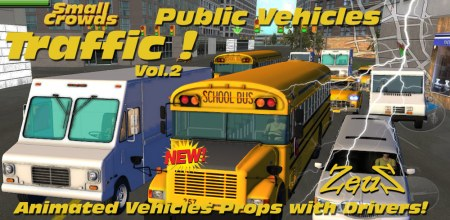 iClone Props Pack - Small Crowds Traffic Vol.2 Public Vehicles