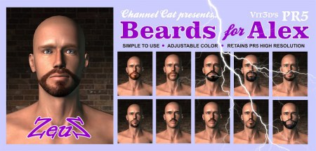 iClone Skin Pack - Beards for Alex