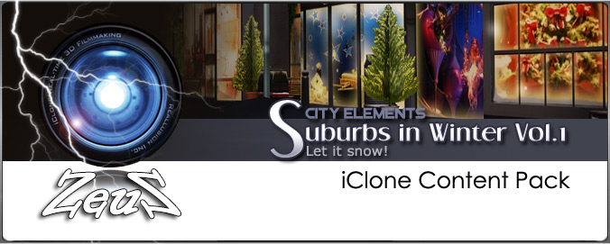 iClone Props Pack - City Elements - Suburbs in Winter Vol 1