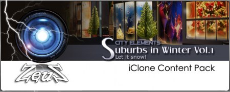 iClone Props Pack - City Elements - Suburbs in Winter Vol.1