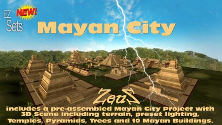 iClone Props Pack - EZ Sets Mayan City