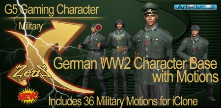 iClone Characters Pack - G5 Gaming COMBO WW2