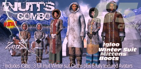 iClone Character Pack - G5 Cloth Marvelous Inuits COMBO (Eskimos)
