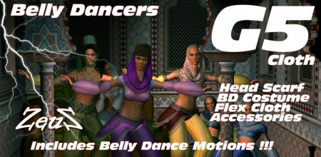 iClone Character Pack - G5 Cloth Harem Sexy Belly Dancers COMBO