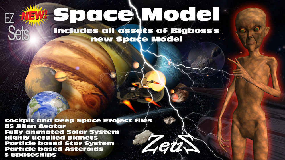 EZ Sets Space Model - Space Model for iClone 3D which