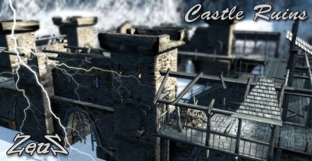 iClone Props Pack - Medieval Castle Ruins