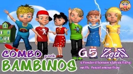 iClone Character Pack - Toon Bambinos
