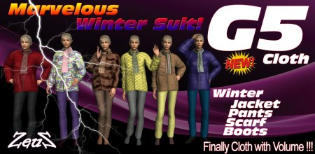 iClone Character Pack - G5 Cloth Marvelous Winter Suit