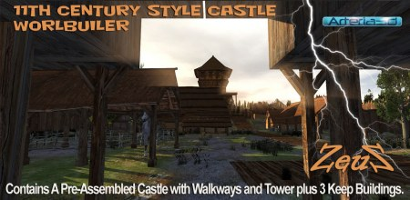 iClone Props Pack - 11th Century Castle Worldbuilder Kit