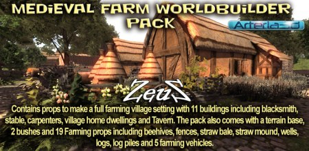 iClone Props Pack - Medieval Farm Worldbuilder Pack