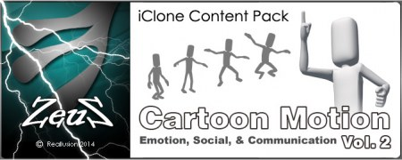 iClone Motion Pack - Cartoon Motion 3 in 1