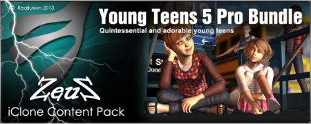 iClone Combo Pack - Young Teens 5 Pro Bundle