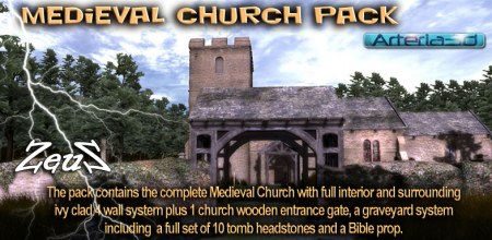 iClone Props Pack - Medieval Church Pack