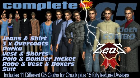iClone Character Pack - G5 Cloth Marvelous Chuck COMPLETE COMBO
