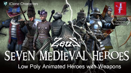 iClone Combo Pack - Seven Medieval Heroes
