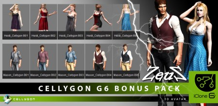 iClone Character Pack - Cellygon G6 Bonus Pack