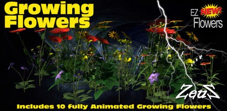 iClone Props Pack - EZ Growing Flowers (FOR VIPs ONLY)