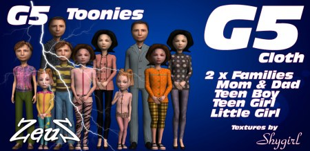 iClone Character Pack - G5 Cloth Toonies Family