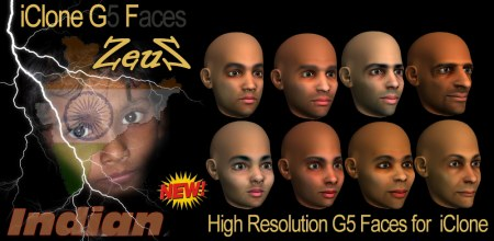 iClone Face Pack - G5 High Resolution Indian Faces