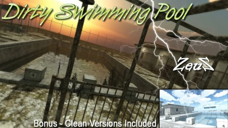 iClone Props Pack - Dirty Swimming Pool