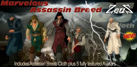 iClone Character Pack - G5 Cloth Marvelous Assassin Breed