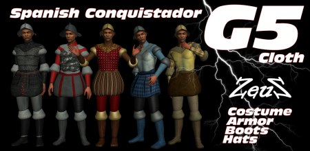 iClone Character Pack - G5 Cloth Spanish Conquistador