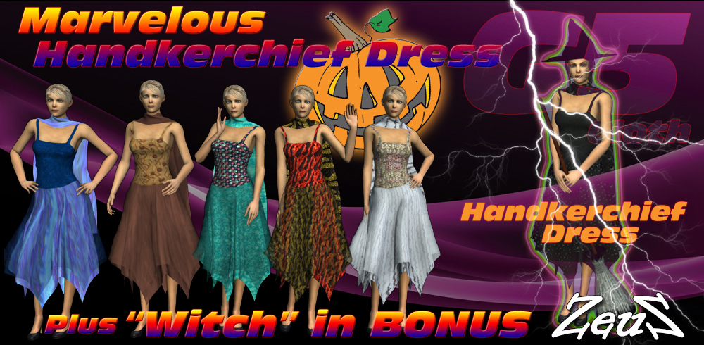 iClone Character Pack - G5 Cloth Marvelous Handkerchief Dress