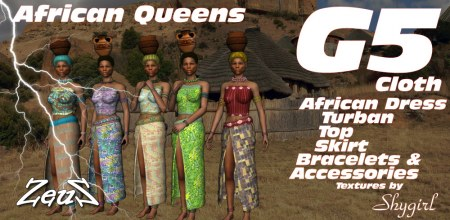 iClone Character Pack - G5 Cloth African Tribes Female Queens