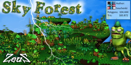 iClone Props Pack - Sky Forest