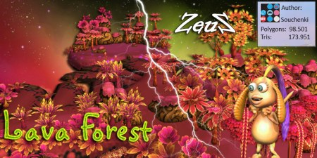 iClone Props Pack - Lava Forest