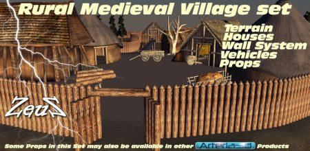 iClone Props Pack - Rural Medieval Village Worldbuilder Set