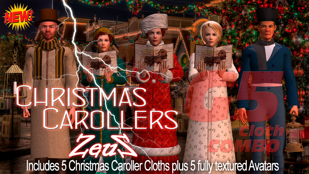 iclone character pack g5 cloth marvelous christmas carollers combo - Christmas Carollers